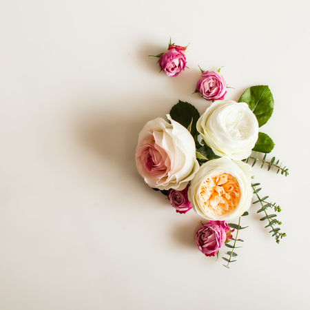 Photo for Floral wedding frame - Royalty Free Image
