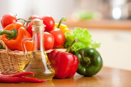 Photo pour fresh vegetables healthy food on the table - image libre de droit