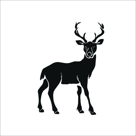 Illustration for Deer icon. Vector Illustration - Royalty Free Image
