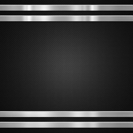 Photo pour Metal bars on carbon fibre background or texture - image libre de droit