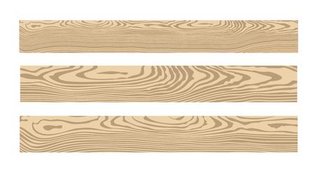 Ilustración de Wood set. Isolated wood on white background - Imagen libre de derechos