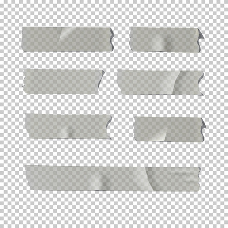 Illustration pour Vector realistic element. Adhesive tape set isolated on transparent background. - image libre de droit
