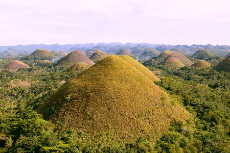 Photo pour Chocolate Hills, Bohol Island, Philippines - image libre de droit