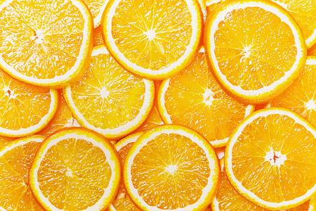 Photo pour Fresh Natural background with Orange Slice - image libre de droit