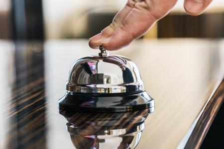 Photo pour Hotel Concierge. service bell in a hotel or other premises - image libre de droit