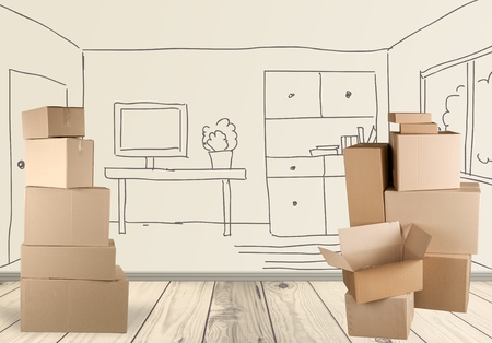 Photo for Box, Cardboard Box, Moving Office. - Royalty Free Image