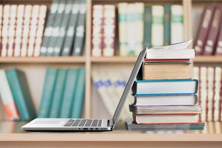 Photo pour Book, Education, Laptop. - image libre de droit