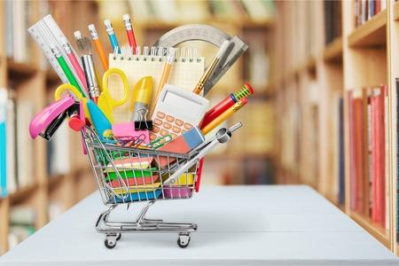 Photo pour Education, Back to School, Shopping. - image libre de droit