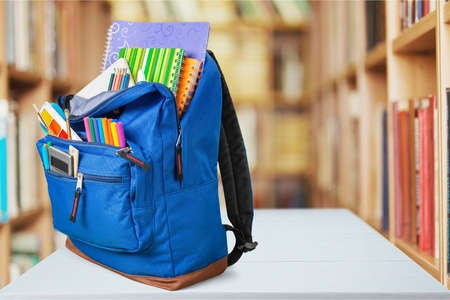 Photo for School, backpack, back. - Royalty Free Image