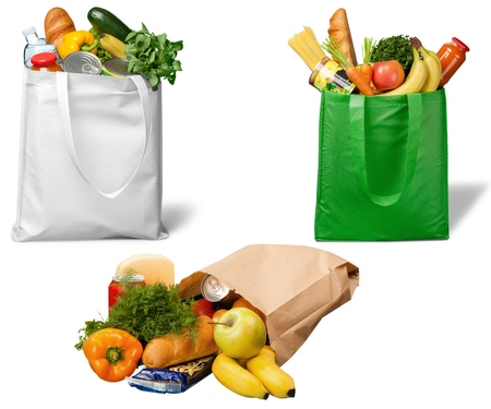 Photo pour Bag, Groceries, Recycling. - image libre de droit