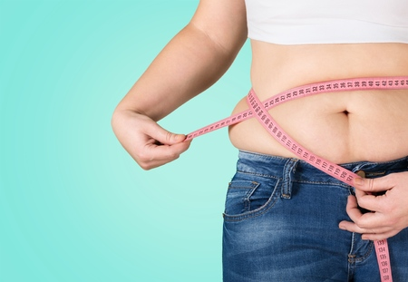 Foto per Fat, overweight, diet. - Immagine Royalty Free