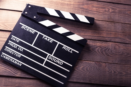 Photo for Cinema, clapboard, director. - Royalty Free Image