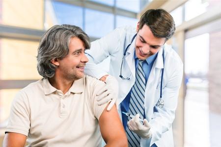 Foto per Injecting, Vaccination, Flu Virus. - Immagine Royalty Free