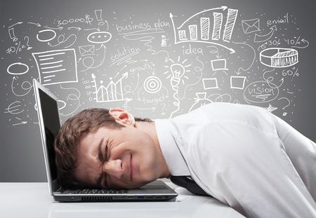 Photo pour Stress, work, pain. - image libre de droit