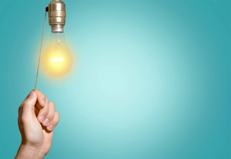 Photo pour Switch, Light Switch, Light Bulb. - image libre de droit