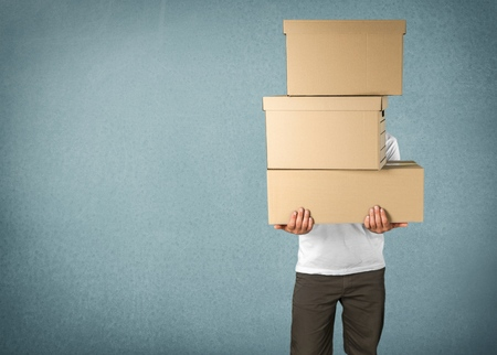Photo pour Box, Moving House, Moving Office. - image libre de droit