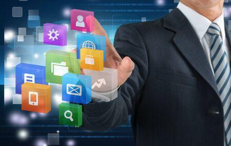 Photo pour Technology, Touch Screen, Innovation. - image libre de droit