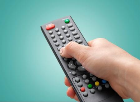 Foto de Remote Control, Television, Entertainment Center. - Imagen libre de derechos