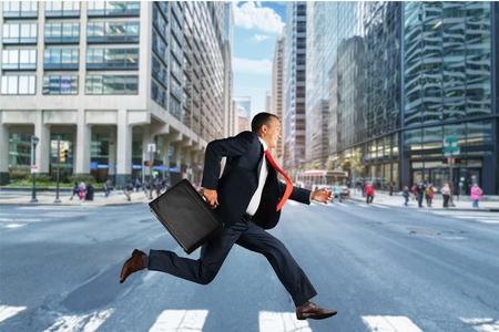 Foto de Running, Men, Business. - Imagen libre de derechos