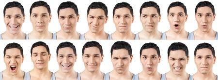Human Face, Facial Expression, Men.