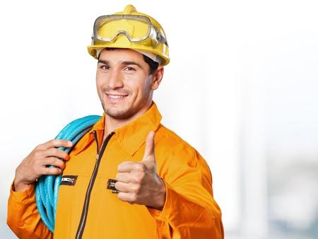 Foto de Electrician, worker, man. - Imagen libre de derechos
