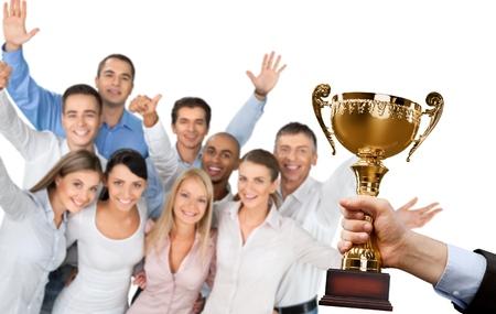 Photo pour Trophy, Winning, Award. - image libre de droit