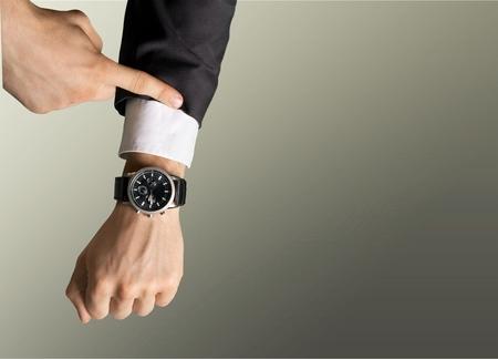 Photo pour Time, Checking the Time, Urgency. - image libre de droit