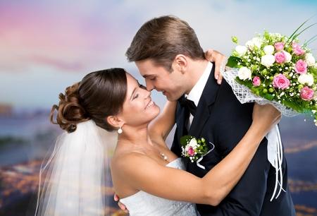 Foto de Wedding, Couple, Heterosexual Couple. - Imagen libre de derechos