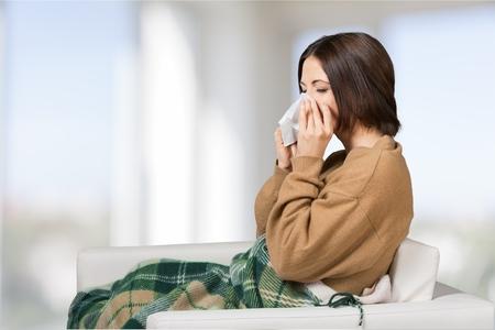 Foto de Flu, cold, woman. - Imagen libre de derechos