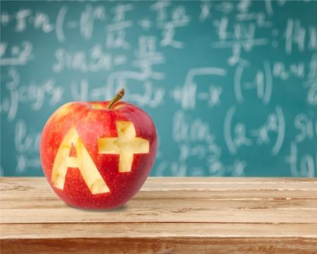 Photo pour Letter A, Report Card, Test Results. - image libre de droit