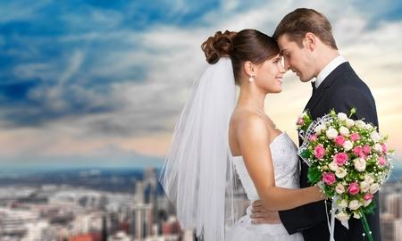 Photo pour Wedding, Bride, Groom. - image libre de droit