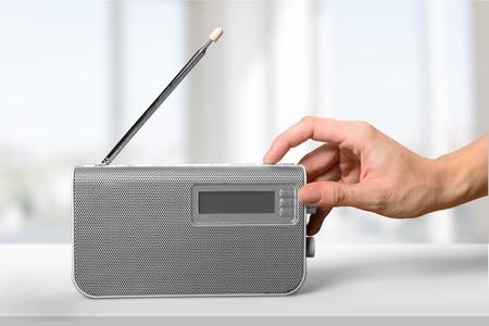 Photo for Radio, Listening, Human Hand. - Royalty Free Image