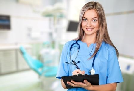 Foto de Nurse, Scrubs, Healthcare And Medicine. - Imagen libre de derechos