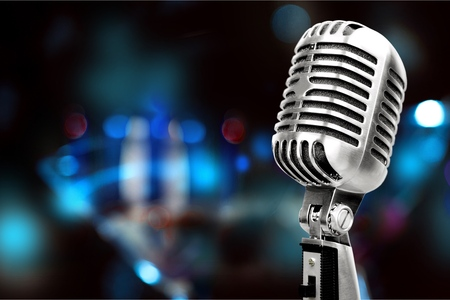 Photo for Silver microphone. - Royalty Free Image