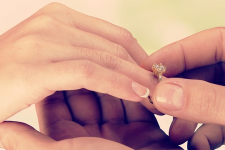 Photo for Engagement ring. - Royalty Free Image