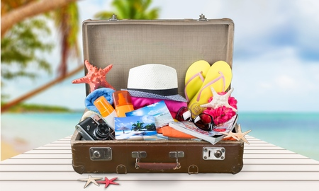 Foto de Summer suitcase. - Imagen libre de derechos