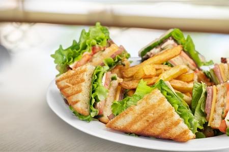 Photo pour Club Sandwich. - image libre de droit