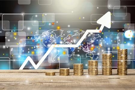 Foto de Finance graphs. - Imagen libre de derechos