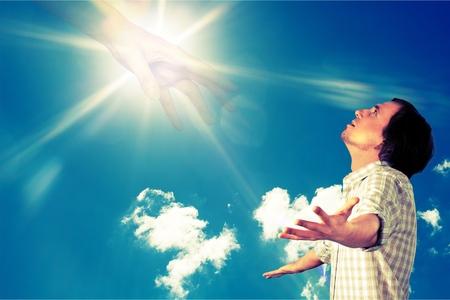 Foto de Praying. - Imagen libre de derechos