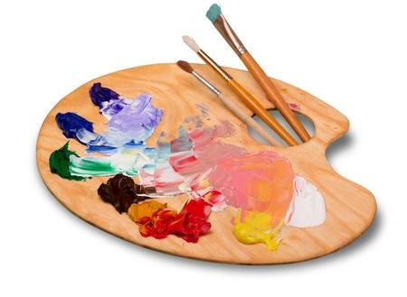 Photo pour artist paint isolated on white - image libre de droit