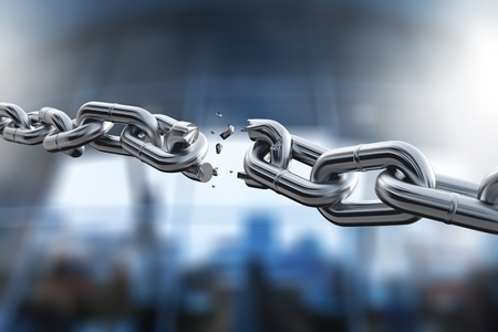 Photo for Broken metal chain on background - Royalty Free Image