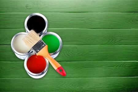 Foto für Paint Cans and Brushes - Lizenzfreies Bild