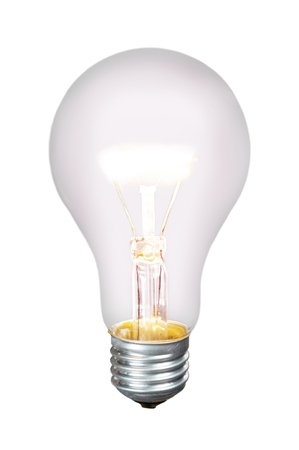 Photo pour Standard Incandescent Bulb - Isolated - image libre de droit