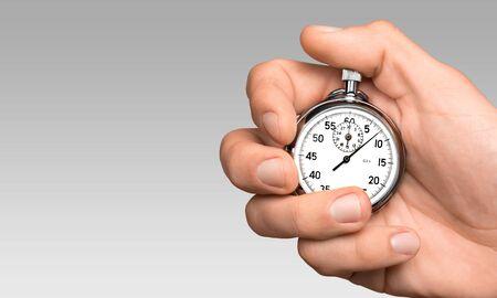 Photo pour Stopwatch in Human Hand - image libre de droit