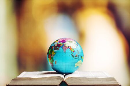 Photo for Open book and globe world - Royalty Free Image