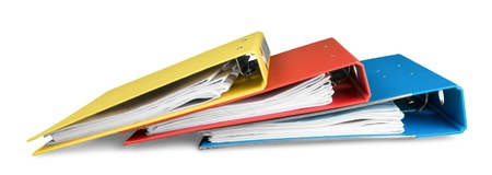 Foto de File folders with documents - Imagen libre de derechos