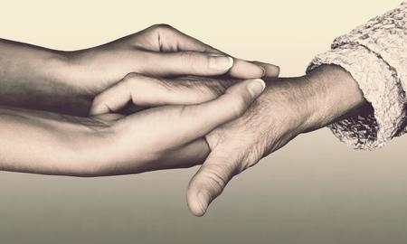 Foto de Giving a helping hand. - Imagen libre de derechos