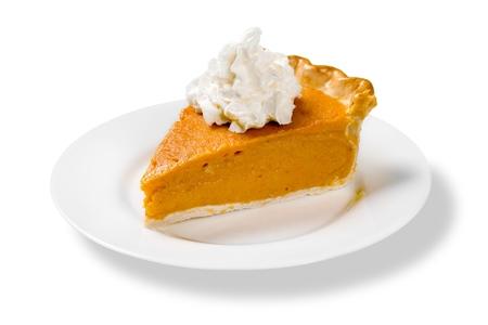 Foto de Pumpkin Pie Slice Isolated - Imagen libre de derechos