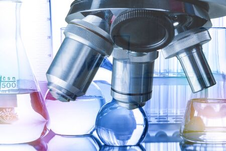 Foto de scientist with equipment,science research,science background - Imagen libre de derechos