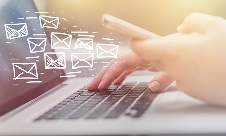 Foto de Email marketing and newsletter concept - Imagen libre de derechos